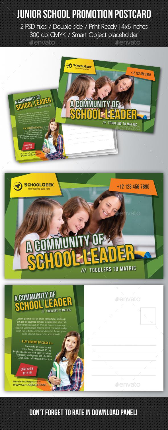 Junior School Promotion Postcard 08 - Cards & Invites Print Templates
