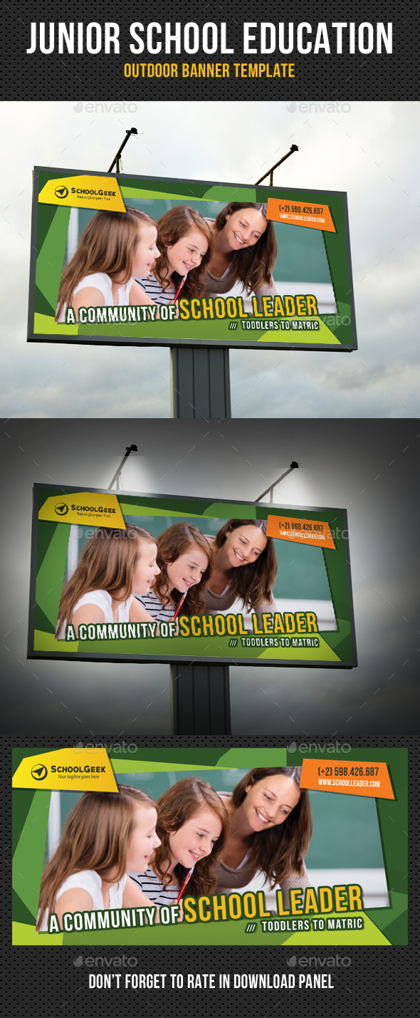Junior School Education Outdoor Banner - Signage Print Templates