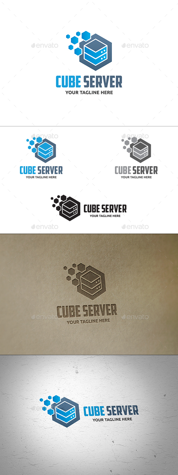 Cube Server Logo - Symbols Logo Templates