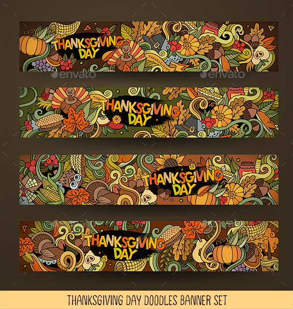 Thanksgiving Banners Design - Miscellaneous Seasons/Holidays
