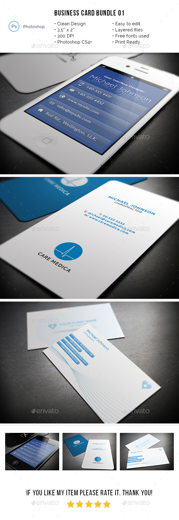 Business Card Bundle 01 - Industry Specific Business Cards