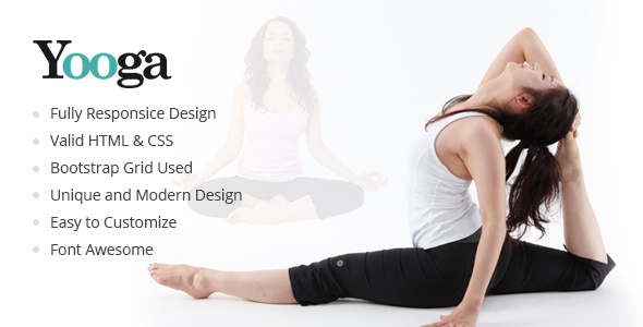 Yooga - Modern Health and Yoga HTML Template