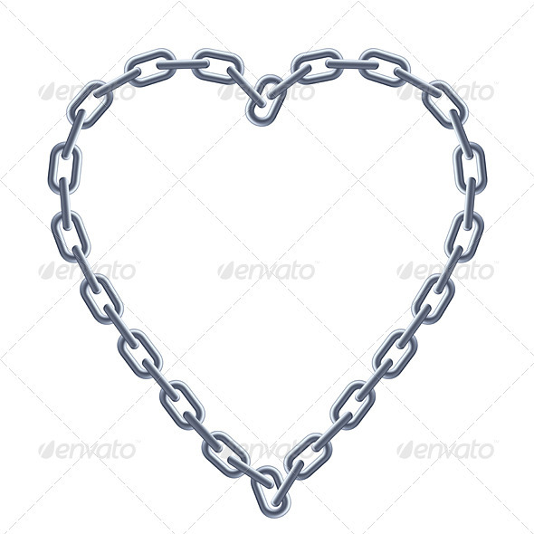 Chain silver heart. - Man-made Objects Objects