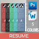 A4 Resume Templates - GraphicRiver Item for Sale