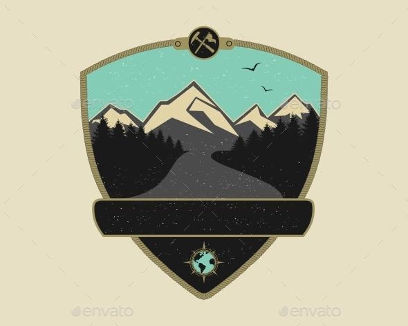 Retro Adventure Emblem - Travel Conceptual