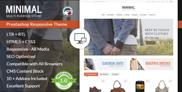 Minimal Multi Purpose - Prestashop Theme