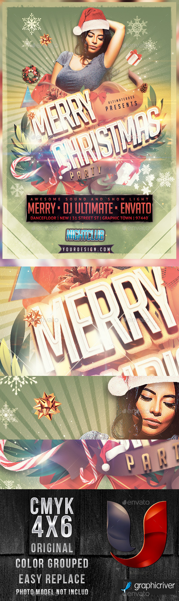 Merry Christmas Party - Flyers Print Templates
