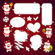 Set of Cartoon Santa Clauses with a Speech Bubbles - GraphicRiver Item for Sale