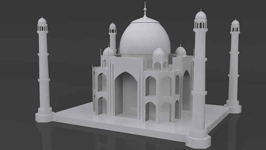 Taj Mahal Model By Mikealdrain 3docean