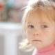Blue-eyed Blonde Little Girl Looking Bored  - VideoHive Item for Sale