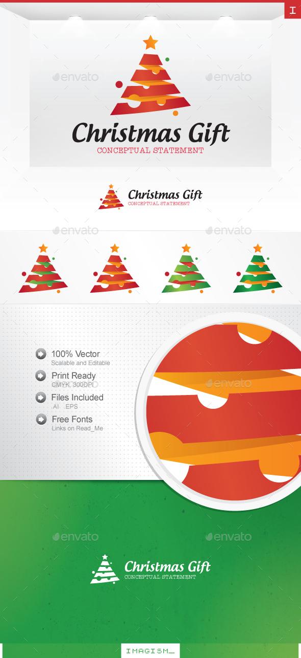 Christmas Gift Logo - Nature Logo Templates
