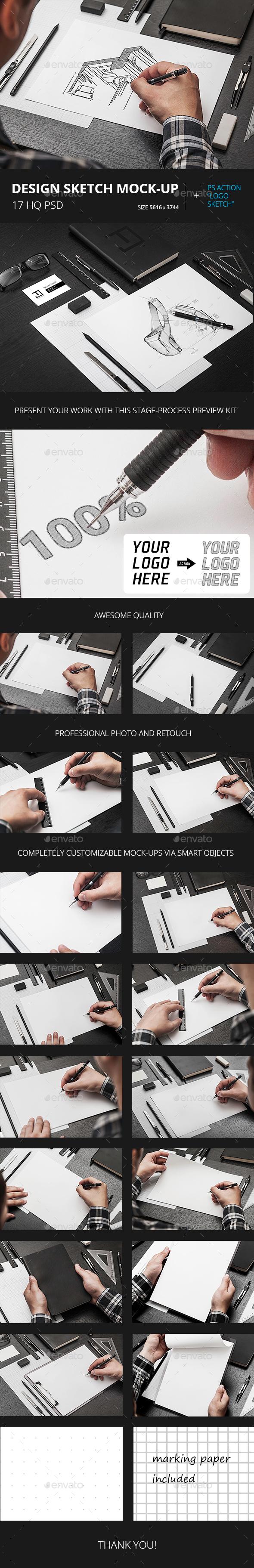 Design Sketch Mock-Up - Product Mock-Ups Graphics