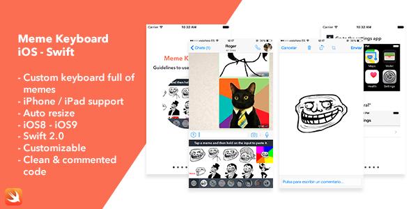 Meme Keyboard iOS App - CodeCanyon Item for Sale