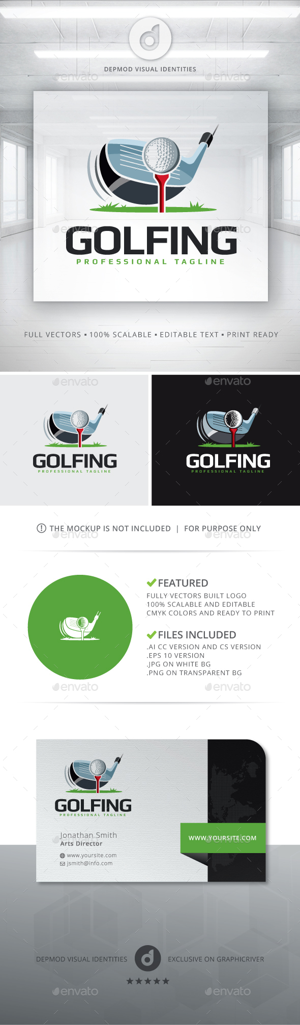 Golfing Logo - Objects Logo Templates