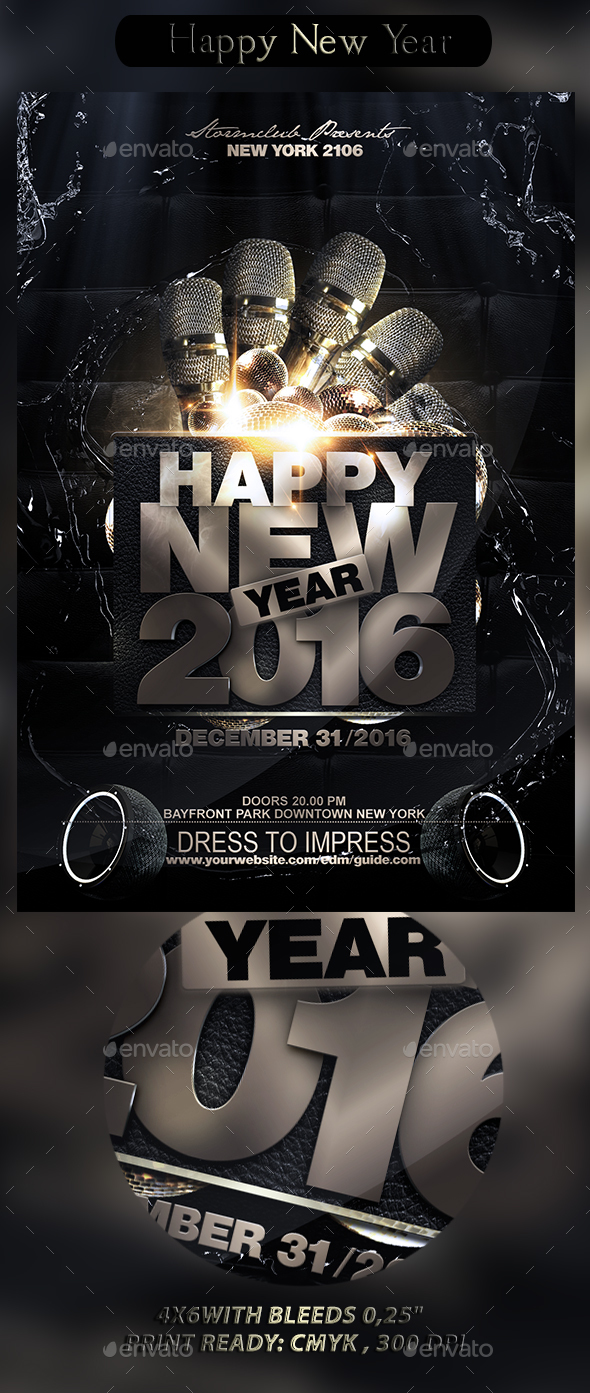 Happy New Year - Events Flyers