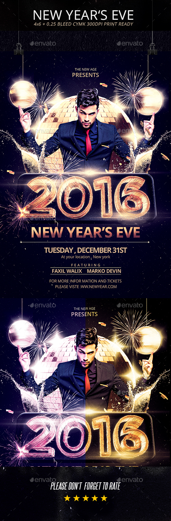 New Year's Eve Flyer - 2016 - Holidays Events