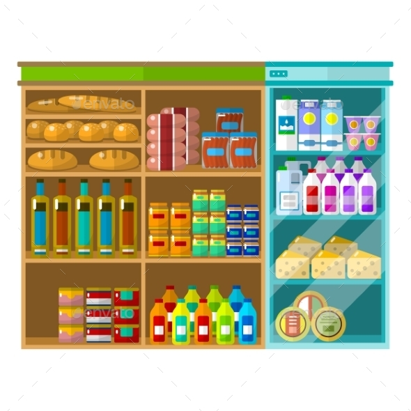 Supermarket Interior Concept - Retail Commercial / Shopping