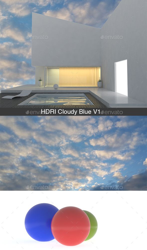 HDRI Cloudy Blue V1 - 3DOcean Item for Sale