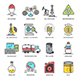 Oil Industry Flat Line Icons - GraphicRiver Item for Sale