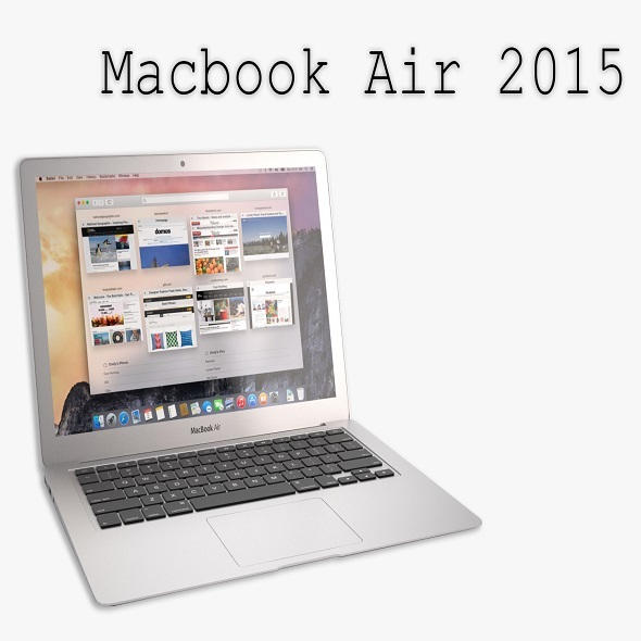 The New MacBook Air 2015 - 3DOcean Item for Sale