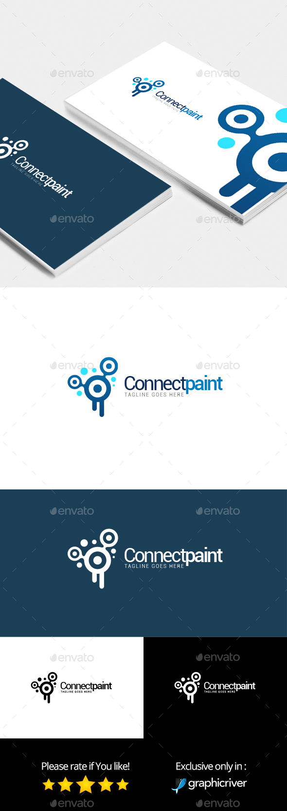 Connect Paint – Logo Template - Abstract Logo Templates
