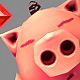 Low Poly Micro Pig Melvin - 3DOcean Item for Sale