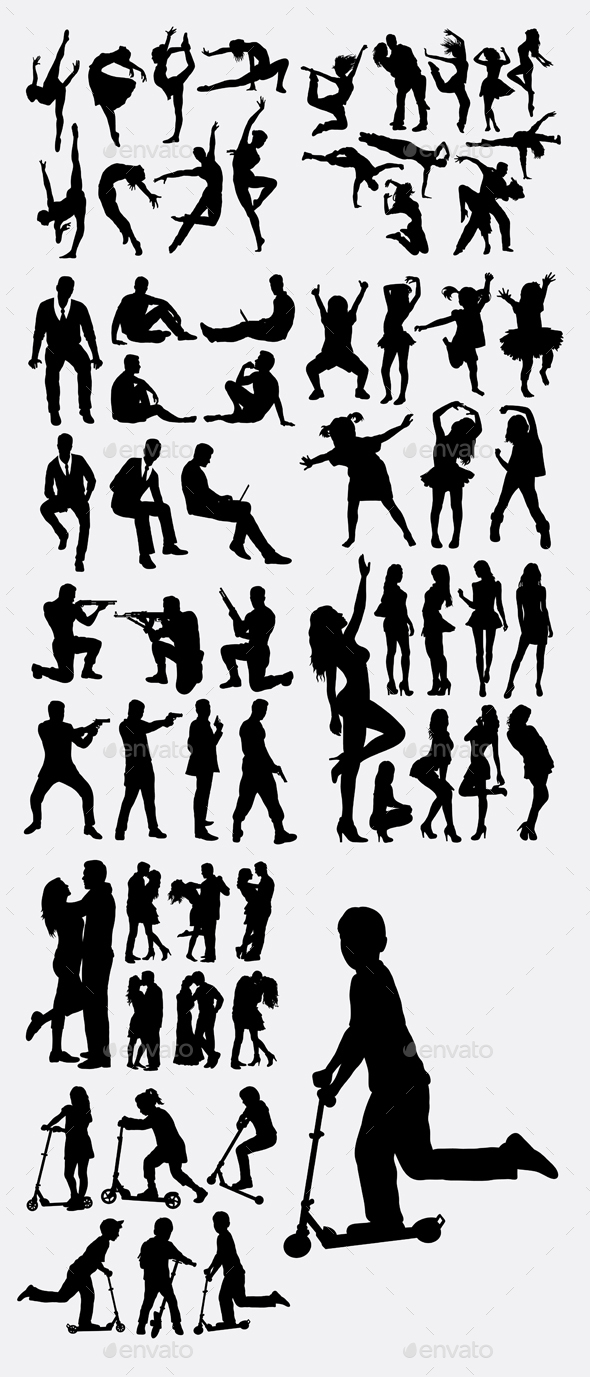 People Silhouettes - People Characters