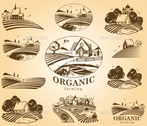 Organic Farming Design Elements - Landscapes Nature