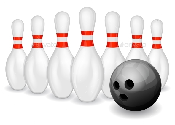 Bowling Ball and Pins - Sports/Activity Conceptual