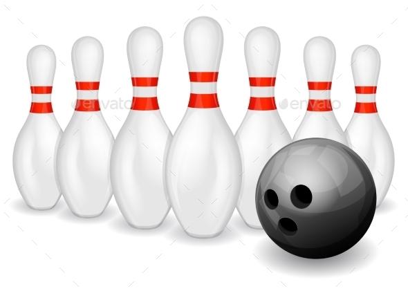 Bowling Ball and Pins - Sports/Activity Conceptual