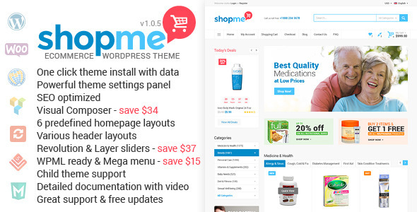 ShopMe – Woocommerce WordPress Theme