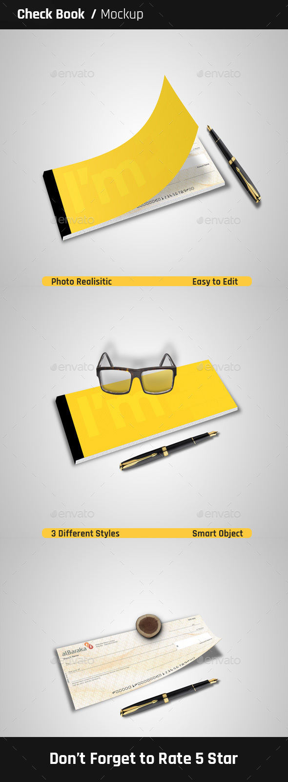 Check Book Mock-Ups - Miscellaneous Print