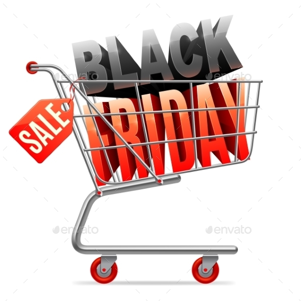Black Friday Sale Shopping Cart - Retail Commercial / Shopping