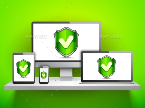 Computer Security Concept - Computers Technology