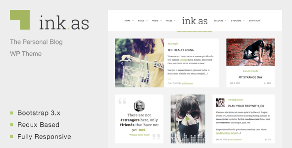 Inkas – The Personal Blog WP Theme