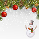 Christmas Illustration with Snowman - GraphicRiver Item for Sale