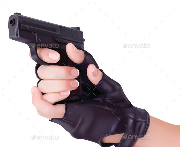 Hands Holding a Gun - Miscellaneous Conceptual