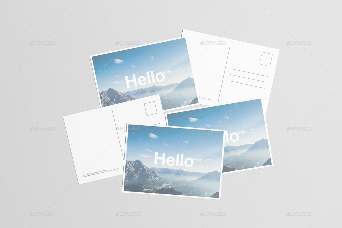 A6 flyer postcard mock up by zeisla graphicriver for Envato graphicriver