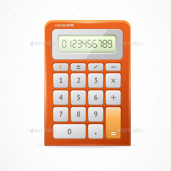 Calculator Red - Man-made Objects Objects