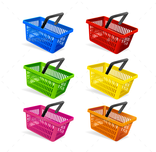 Plastic Basket Set - Man-made Objects Objects