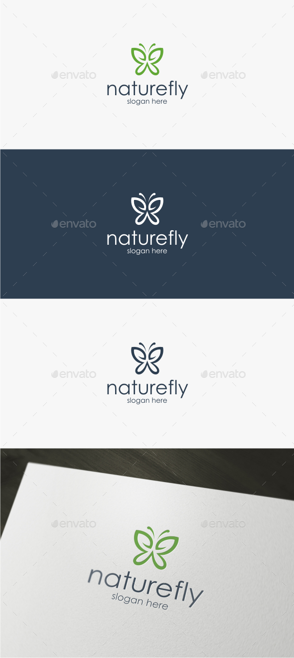 Nature Fly - Logo Template - Animals Logo Templates