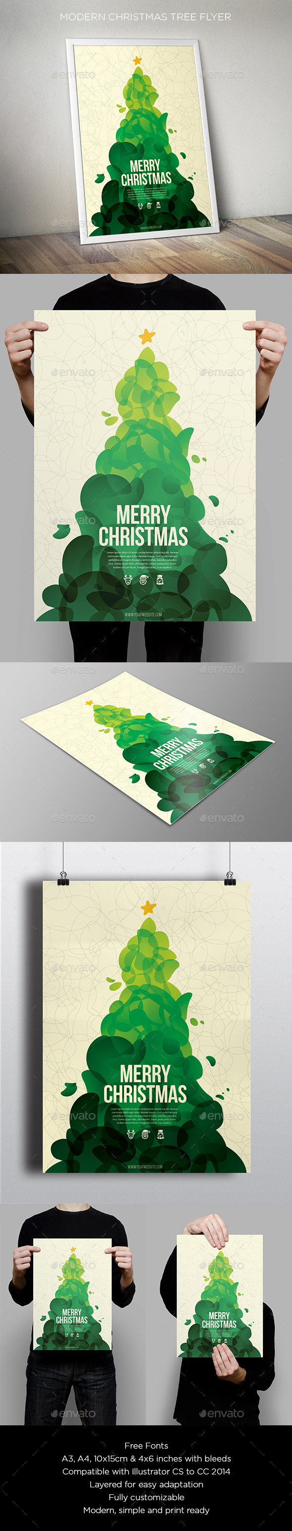 Cool Abstract Christmas Flyer - Holidays Events