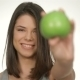 Girl Holds Green Apple - VideoHive Item for Sale