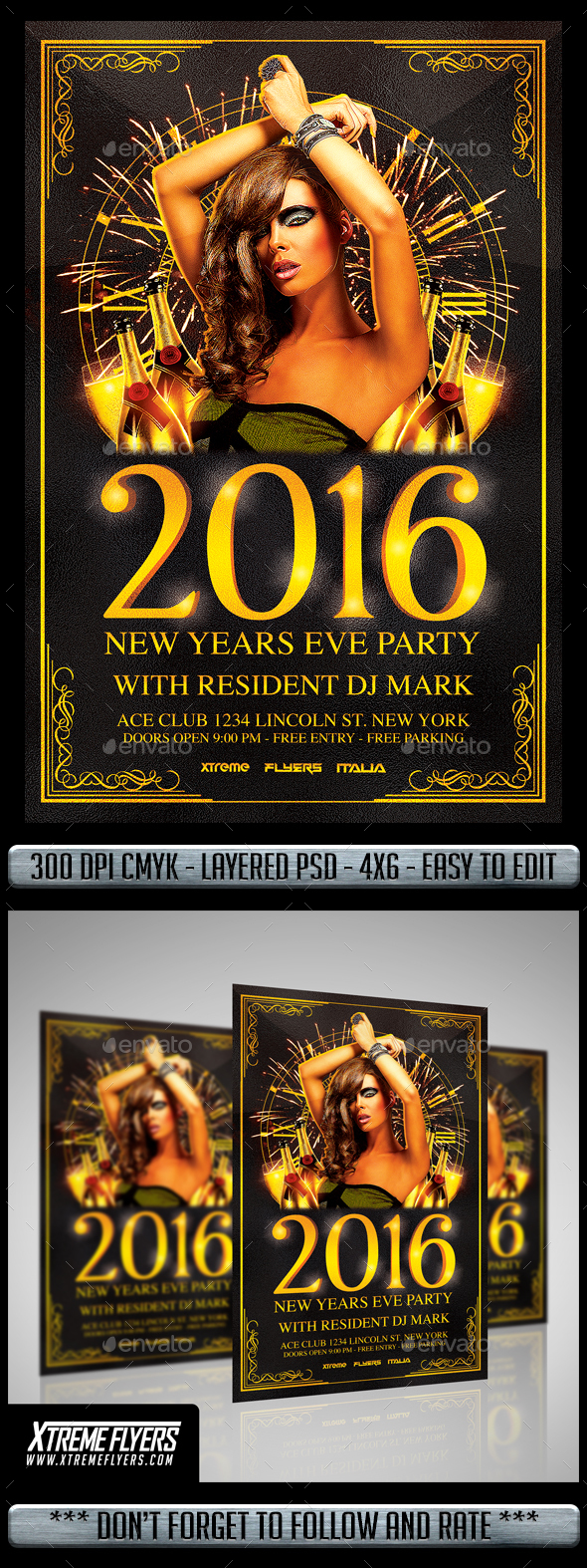 NYE Flyer - Flyers Print Templates