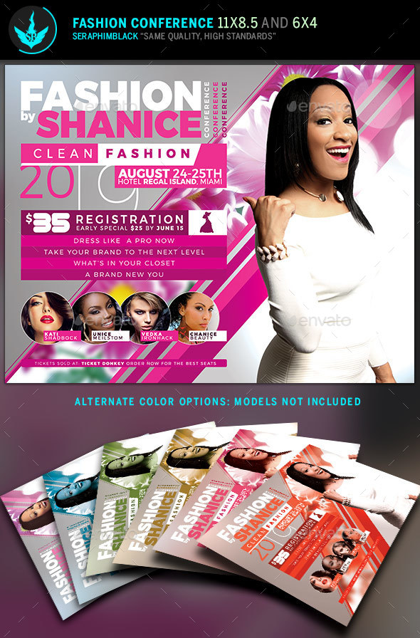 Fashion Conference Flyer Template  By Seraphimblack  Graphicriver