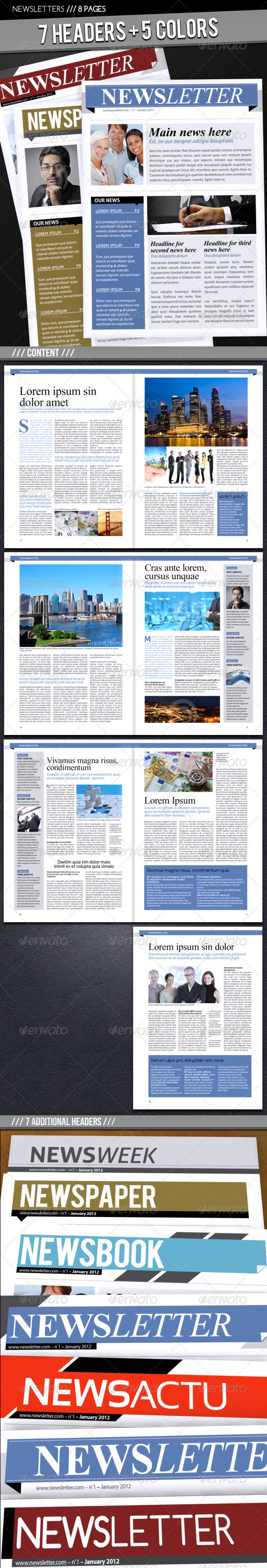 Business Newsletter A4 - Newsletters Print Templates