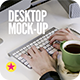 Desktop Screen Work Display Mock-Up - GraphicRiver Item for Sale