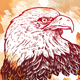 Engraving Eagle on watercolor background - GraphicRiver Item for Sale