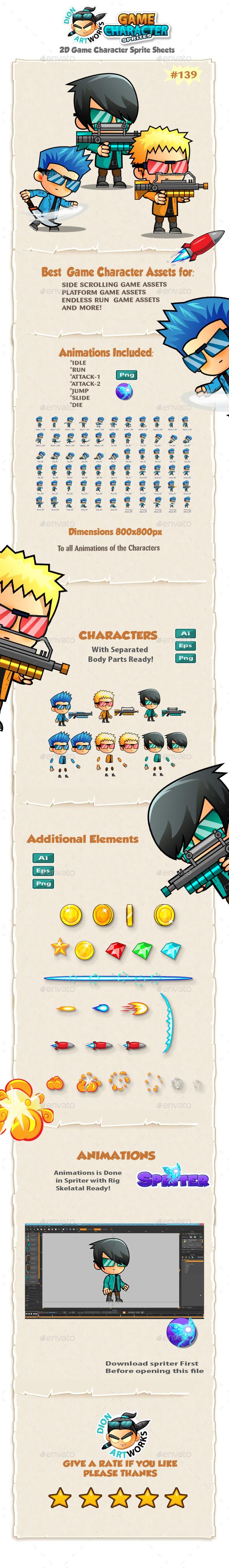 2D Game Character Sprites 139 - Sprites Game Assets