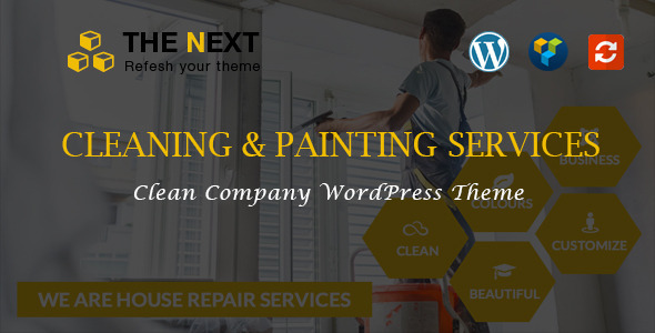 The Next - Cleaning & Painting WordPress Theme - Business Corporate